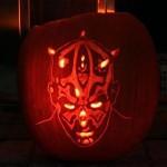 darth maul pumpkin face