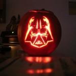 darth vader pumpkin face art
