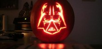 darth vader pumpkin face art