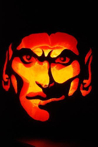 dracula pumpkin face