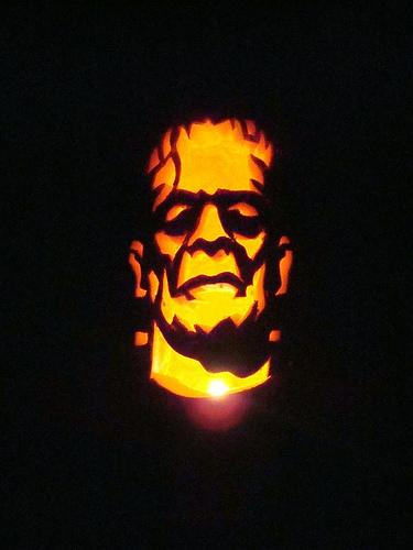 frankenstein monster pumpkin carving