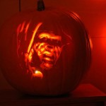 freddy krueger pumpkin face