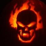 ghost rider pumpkin face