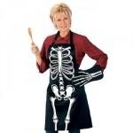 glow in the dark skeleton apron