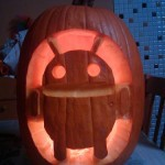 google android pumpkin face