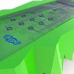 green skype phone design