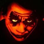 heath ledger joker pumpkin face