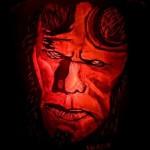 hellboy pumpkin face