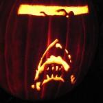 jaws pumpkin art