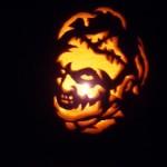 leatherface pumpkin face