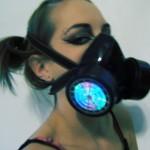 led gas halloween mask