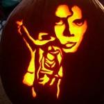 michael jackson tribute pumpkin face