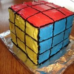 new rubik's cube cake design