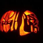 optimus prime megatron pumpkin faces