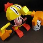 pacman game papercraft model