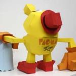 cool pacman tv show papercraft