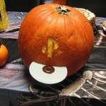 playstation pumpkin face