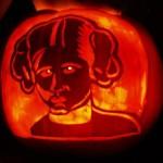 princess leia pumpkin face