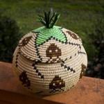 space invaders outdoor basket design