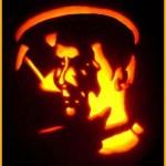 star trek spock pumpkin face