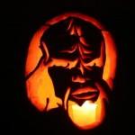 star trek worf pumpkin face