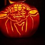 star wars yoda pumpkin face