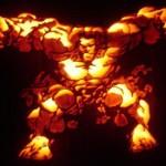 the hulk pumpkin face