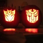 transformers autobots decepticons pumpkin faces