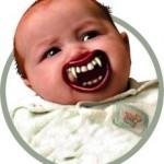 vampire teeth baby pacifier