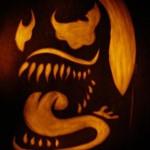 venom pumpkin carving