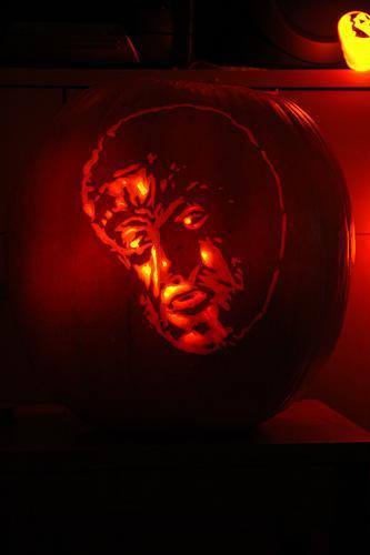 wolfman pumpkin face