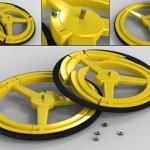 Anti-Theft Collapsible Bike Wheel
