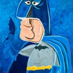 batman picasso drawing