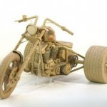 motorcycle cardboard art