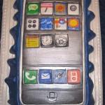 geeky iphone cake