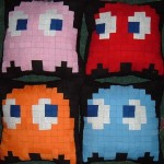 pacman ghosts pillows