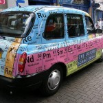 periodic table of elements taxi art