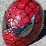 spiderman motorcycle helmet design