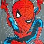 spiderman picasso drawing
