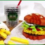 tasty lego cheeseburger combo art