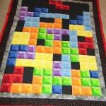tetris game quilt art