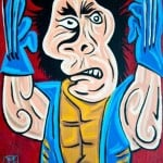 wolverine picasso drawing