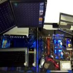 Computer Desk LED Pexiglass Case Mod