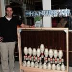 bowling pin menorah