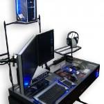 Computer Desk LED  Plexiglass Case Mod