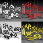 controller collage ornaments
