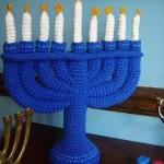 crocheted menorah