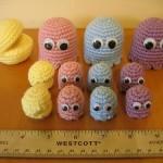 cute pacman crochet dolls