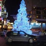 geeky led tree lit up