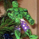 hulk felt ornament